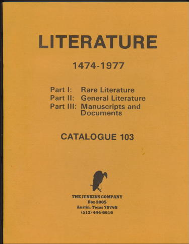 Image for Literature 1474-1977, Catalogue 103