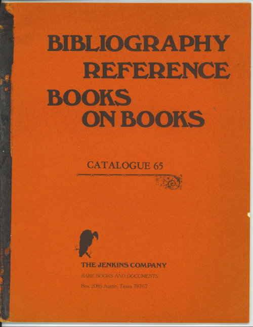 Image for Bibliography Reference Books On Books, Catalogue 65