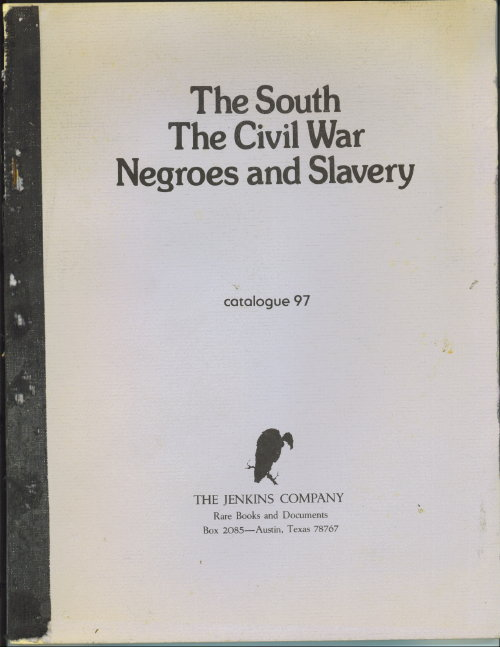 Image for The South, The Civil War, Negroes And Slavery: Catalogue 97