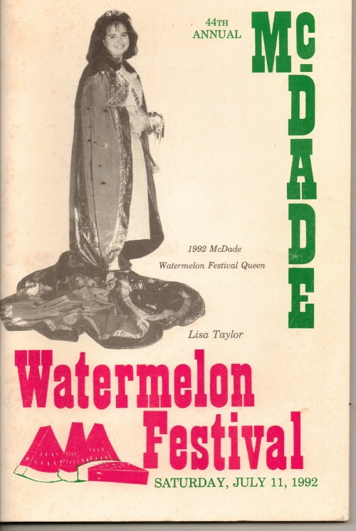 Image for McDade's Annual Watermelon Festival (McDade, Texas)  44th Annual Festival, July 11,1992