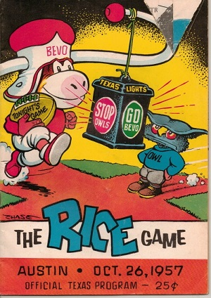 Image for The Rice Game, Austin, Oct. 26, 1957 Official Texas Program