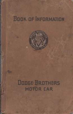 Image for Dodge Brothers Motor Car Book Of Information
