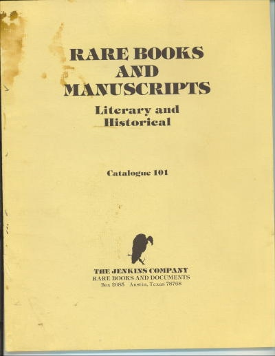 Image for Rare Books And Manuscripts, Literary And Historical (catalogue 101)