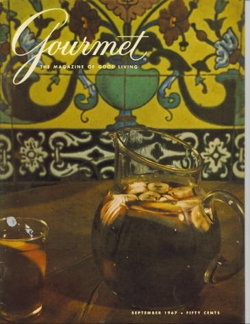 Image for Gourmet: The Magazine Of Good Living September 1967