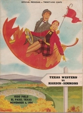Image for Texas Western Vs Hardin-Simmons Kidd Field, El Paso, Texas, November 6, 1954 Official Program