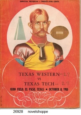 Image for Texas Western Vs Texas Tech Kidd Field, El Paso, Texas, October 8, 1955 Official Program