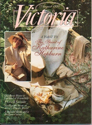 Image for Victoria Magazine, August 1991, A Toast To The Spirit Of Katharine Hepburn