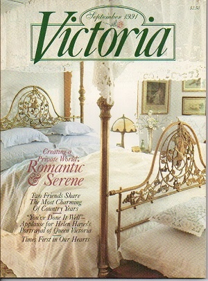 Image for Victoria Magazine, September 1991, Creating A Private World Romantic & Serene
