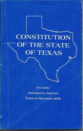 Image for Constitution of the State of Texas, Including Amendments Adopted Through November 1979