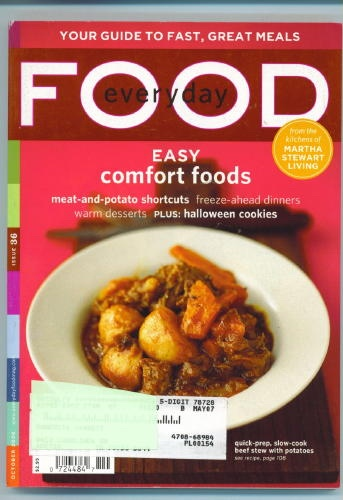 Image for Everyday Food Issue 36. October 2006