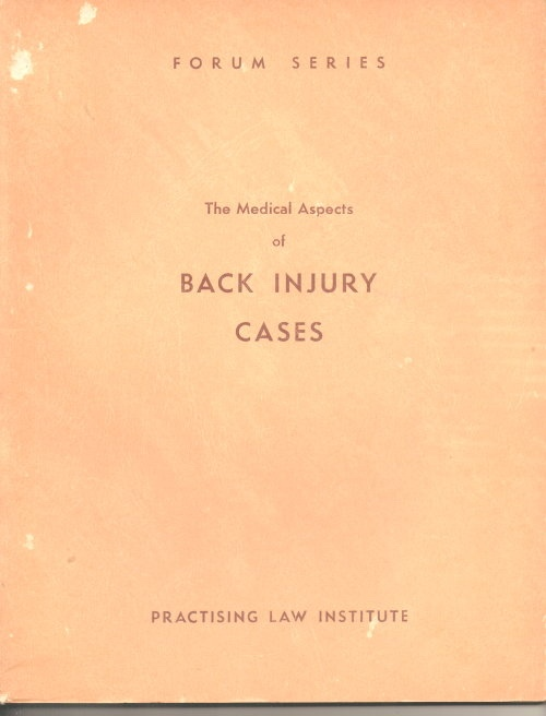 Image for The Medical Aspects Of Back Injury Cases