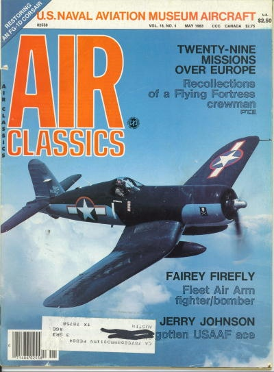 Image for Air Classics Volume 19, No. 5, May 1983, U. S. Naval Aviation Museum