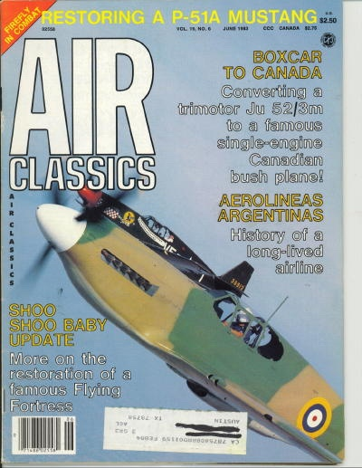 Image for Air Classics Volume 19, No. 6, June 1983, Restoring A P-51a Mustang