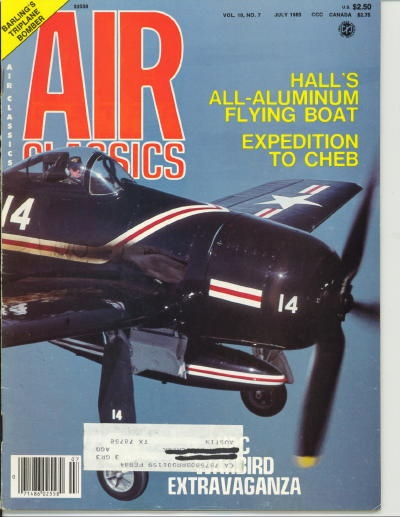 Image for Air Classics Volume 19, No. 7, July 1983, Hall's All-aluminum Blying Boat