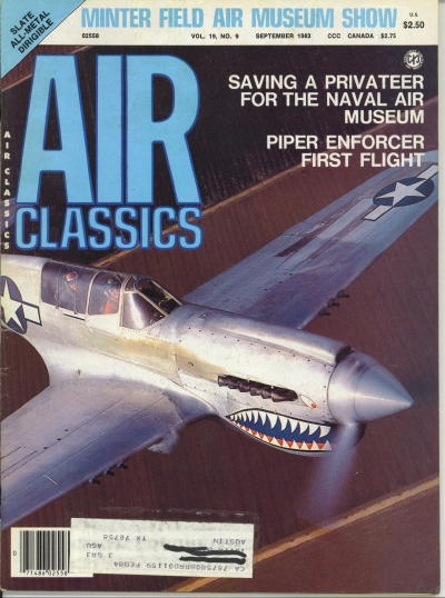 Image for Air Classics Volume 19, No. 9, September 1983, Minter Field Air Museum Show