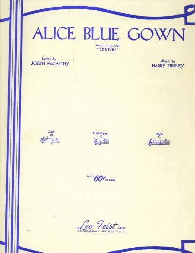 "Image for Alice Blue Gown From the Musical Play ""Irene"""