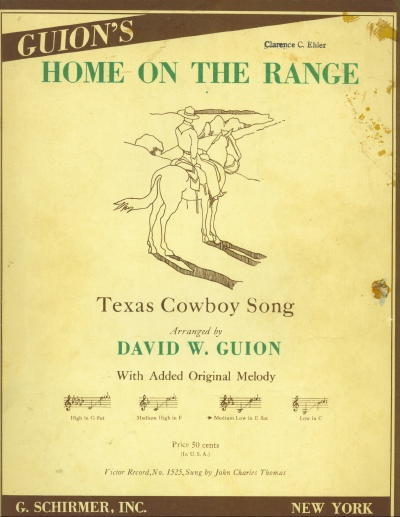 Image for Home On The Range: Texas Cowboy Song