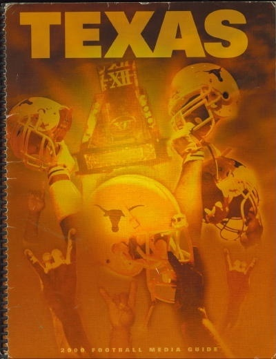 Image for 2000 Texas Football Media Guide