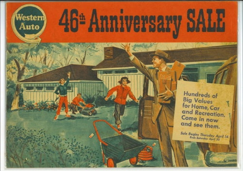 Image for Western Auto 46th Anniversary Sale Flyer, 1955