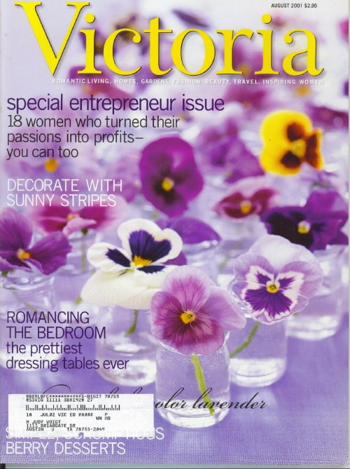 Image for Victoria Magazine August 2001: Special Entrepreneur Issue