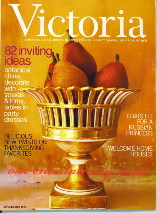 Image for Victoria Magazine November 2001: Delicious New Twists On Thanksgiving Favorites