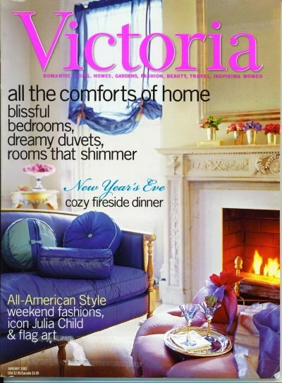 Image for Victoria Magazine January 2002: New Year's Eve Cozy Fireside Dinner