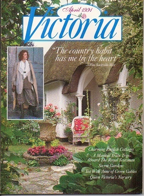 Image for Victoria Magazine, April 1991, The Country Habit Has Me By The Heart