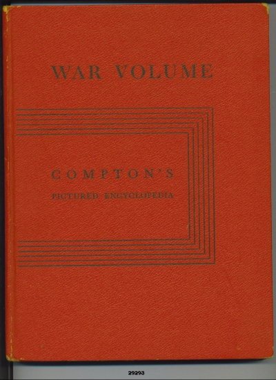 Image for War Volume of Compton's Pictured Encyclopedia
