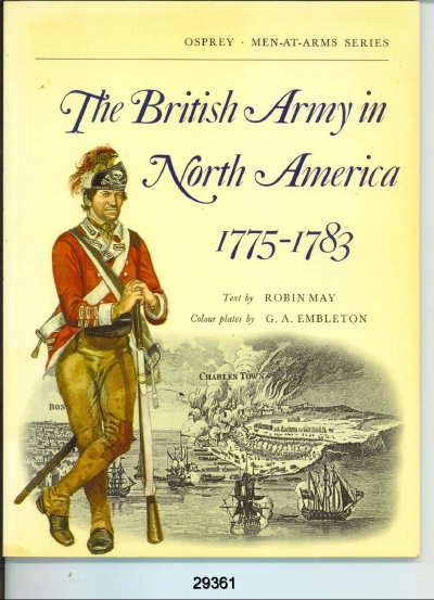 Image for The British Army in North America 1775-83