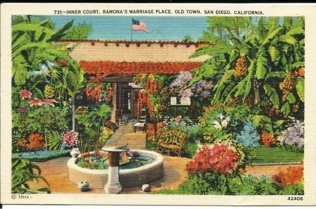 Image for Inner Court, Ramona's Marriage Place, Old Town, San Diego, California #731