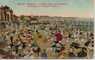 Image for Beautiful California -- A Beach Scene On The Pacific