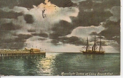 Image for Moonlight Scene At Long Beach, California