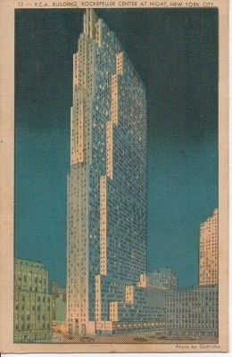 Image for RCA Building At Night, Rockefeller Center, New York City