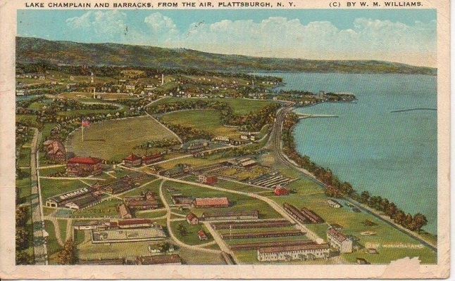 Image for Lake Champlain And Barracks, From The Air, Plattsburgh, NY