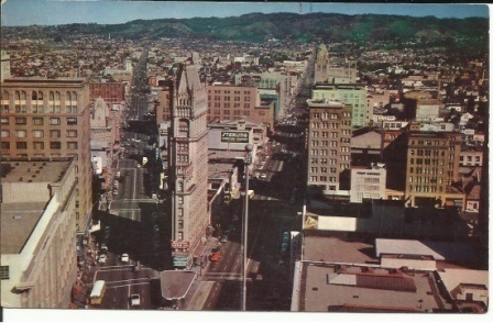 Image for Downtown Oakland, California, Looking North On Broadway And Telegraph