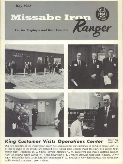 Image for Missabe Iron Ranger, May 1963 For Employees and Their Families