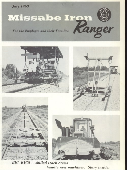 Image for Missabe Iron Ranger, July 1963 For Employees and Their Families