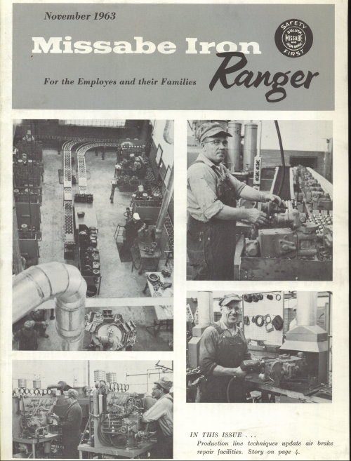 Image for Missabe Iron Ranger, November 1963 For Employees and Their Families