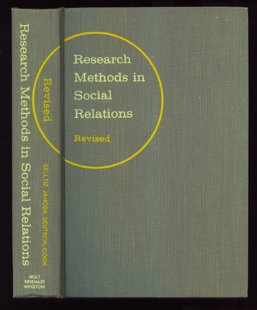 Image for Research Methods in Social Relations, Revised One-Volume Edition