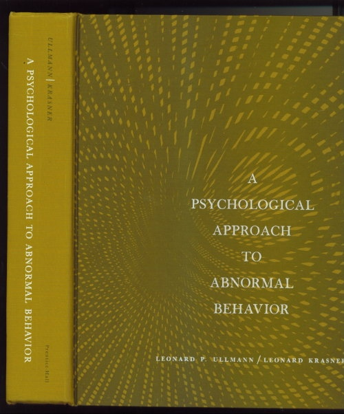 Image for A Psychological Approach To Abnormal Behavior