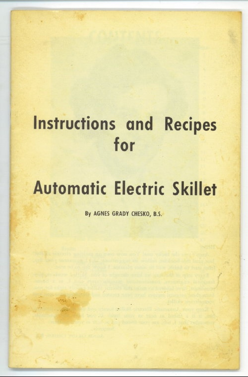 Image for Instructions And Recipes For Automatic Electric Skillet