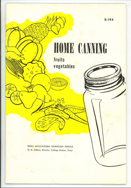 Image for Home Canning: Fruits Vegetables #B-194