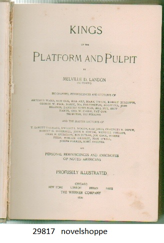 Image for Kings Of The Platform And Pulpit