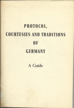 Image for Protocol, Courtesies & Traditions Of Germany: A Guide