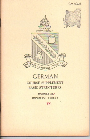 Image for German: Course Supplement Basic Structures, Module