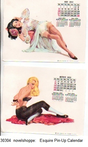 Image for Esquire Pinups 1953 Calendar Set