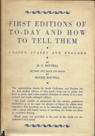 Image for First Editions Of To-day And How To Tell Them  United States and England