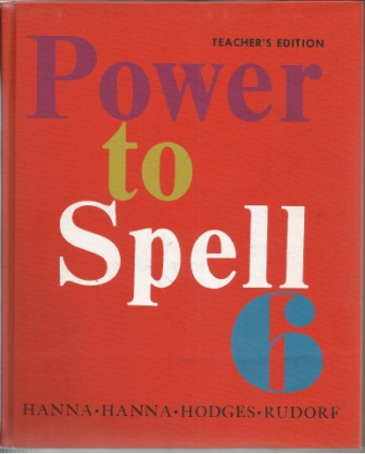 Image for Power to Spell 6  Teacher's Guide and Annotated Edition