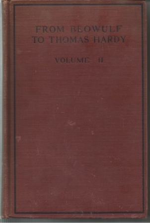 Image for From Beowulf To Thomas Hardy Volume II: from Goldsmith to Thomas Hardy