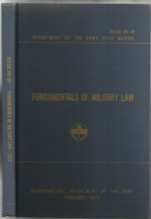 Image for Fundamentals of Military Law